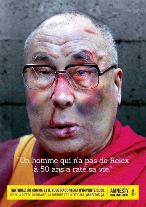 Reklama Dalaj Lama i Rolex