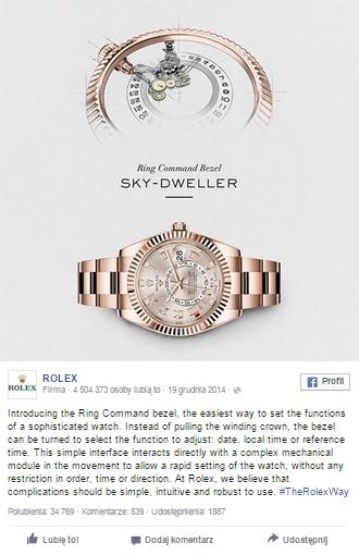 Rolex facebook