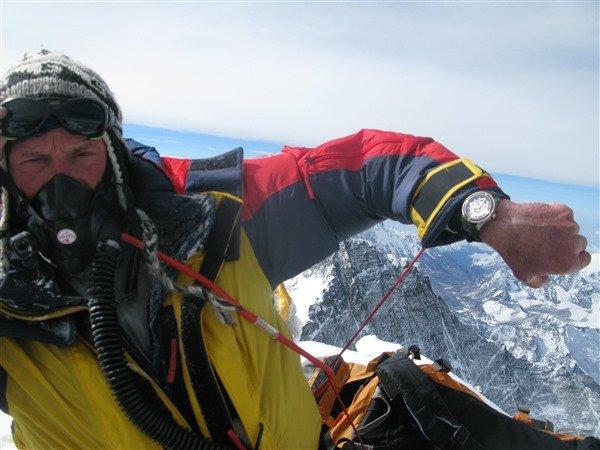 Ryszard Pawłowski i DOXA na Mount Everest