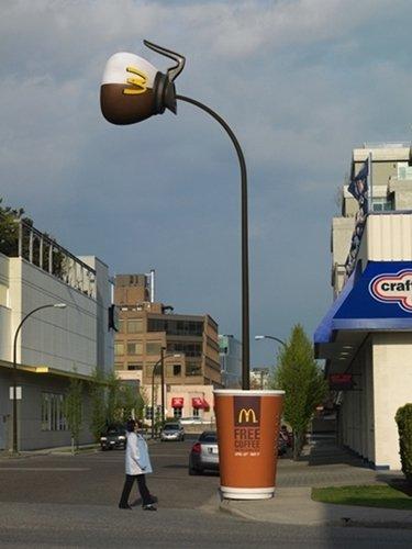 reklama ambientowa McDonalds