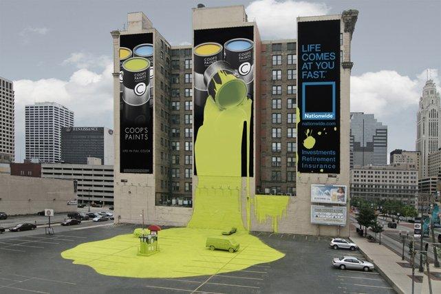reklama ambientowa indoor